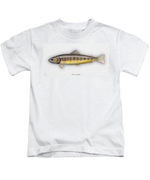 Brown Trout - Salmo Trutta Morpha Fario - Salmo Trutta Fario - Game Fish - Flyfishing Kids T-Shirt