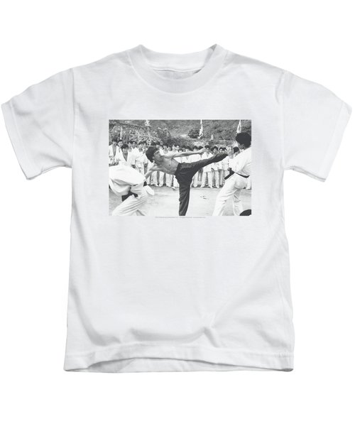 Bruce Lee - Kick To The Head Kids T-Shirt by Brand A