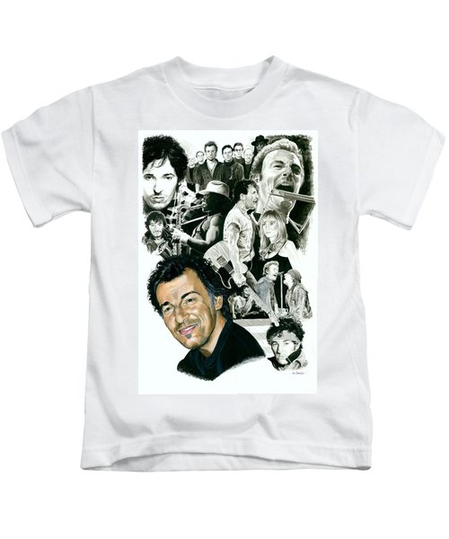 Bruce Springsteen Through The Years Kids T-Shirt