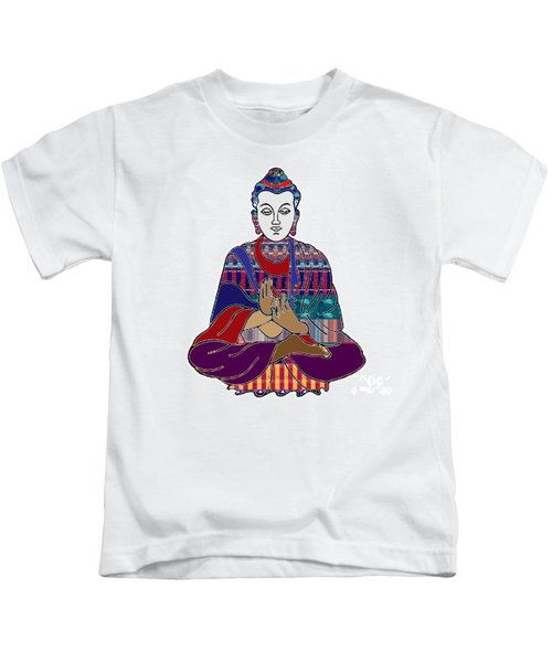Buddha In Meditation Buddhism Master Teacher Spiritual Guru By Navinjoshi At Fineartamerica.com Kids T-Shirt