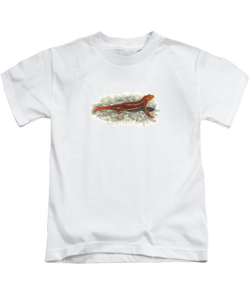 California Newt Kids T-Shirt by Cindy Hitchcock