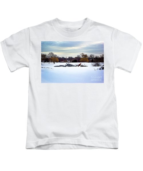 Canoes In The Snow Kids T-Shirt