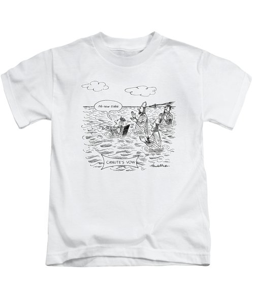 Canute's Vow Kids T-Shirt