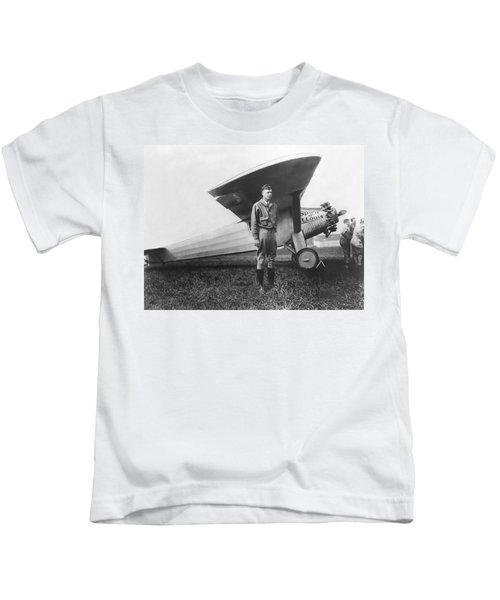 Captain Charles Lindbergh Kids T-Shirt