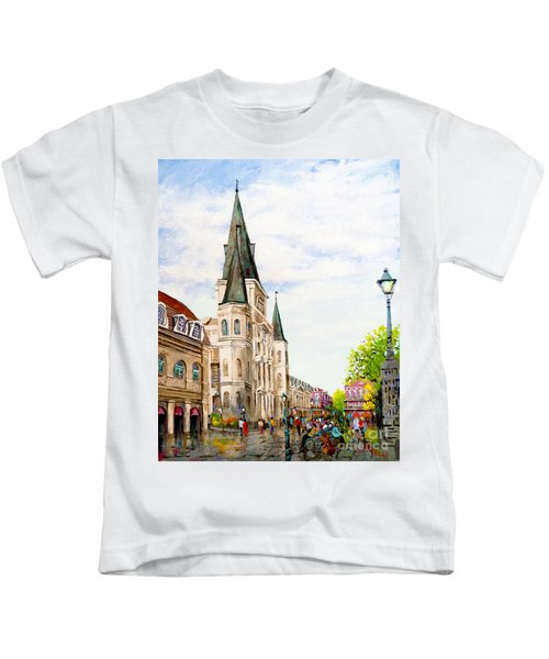 Cathedral Plaza - Jackson Square, French Quarter Kids T-Shirt