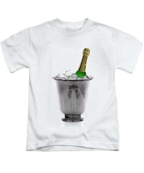 Champagne Bottle On Ice Kids T-Shirt