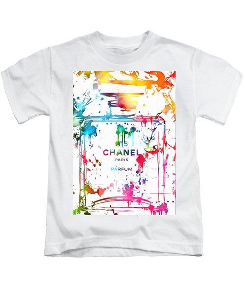 Chanel Number Five Paint Splatter Kids T-Shirt