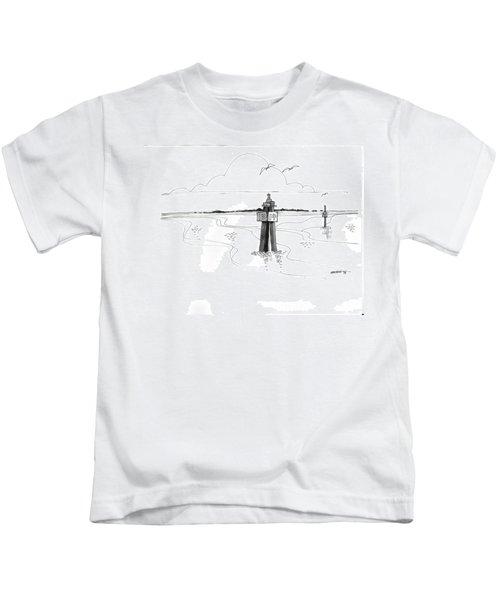 Channel Markers Ocracoke Inlet Kids T-Shirt