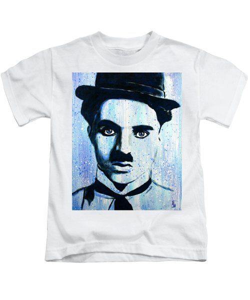 Charlie Chaplin Little Tramp Portrait Kids T-Shirt