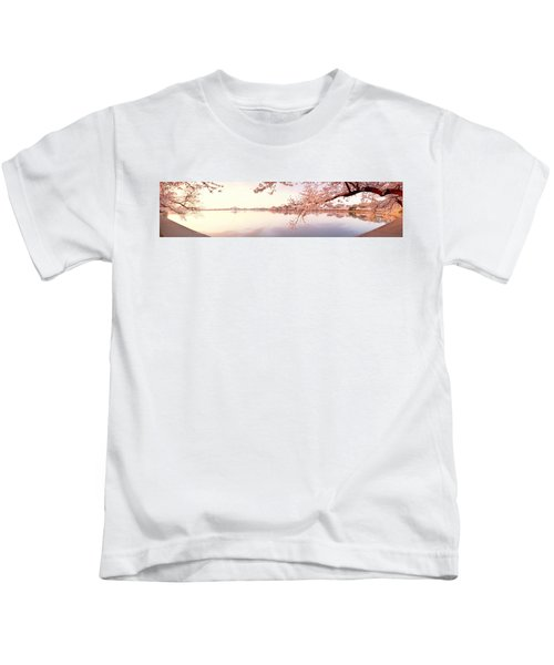 Cherry Blossoms At The Lakeside Kids T-Shirt
