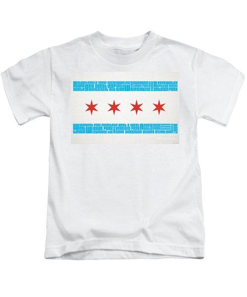 Chicago Flag Neighborhoods Kids T-Shirt