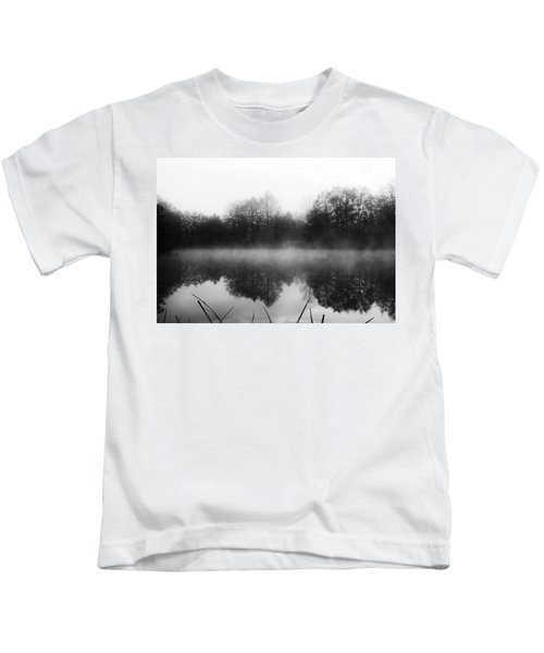 Chilly Morning Reflections Kids T-Shirt