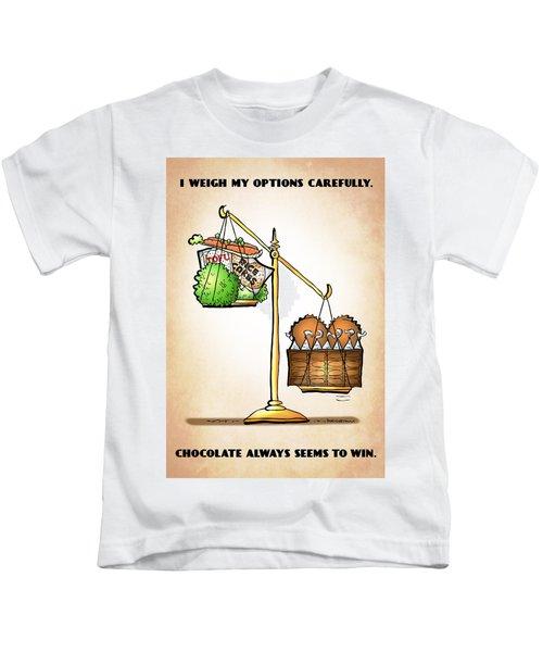 Chocolate Always Wins Kids T-Shirt