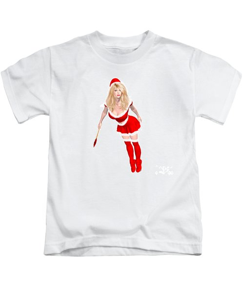 Christmas Elf Elise Kids T-Shirt by Renate Janssen