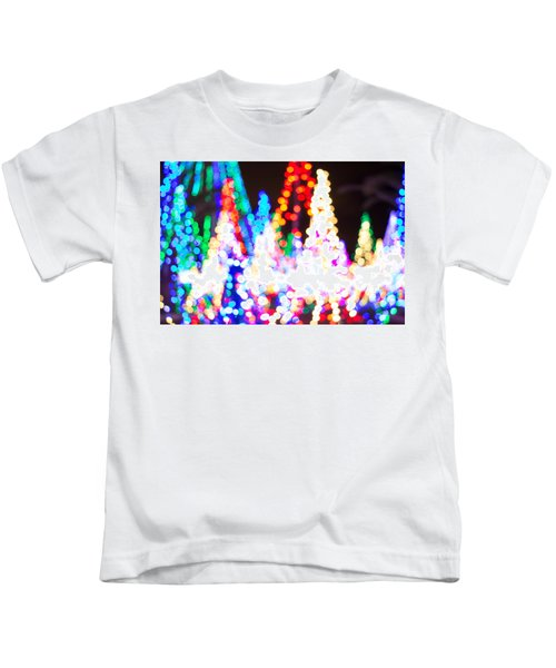 Christmas Lights Abstract Kids T-Shirt
