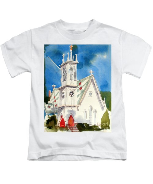 Church With Jet Contrail Kids T-Shirt