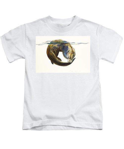 Circle Of Life Kids T-Shirt by Mark Adlington