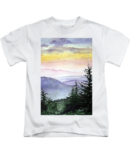 Clear Mountain Morning II Kids T-Shirt