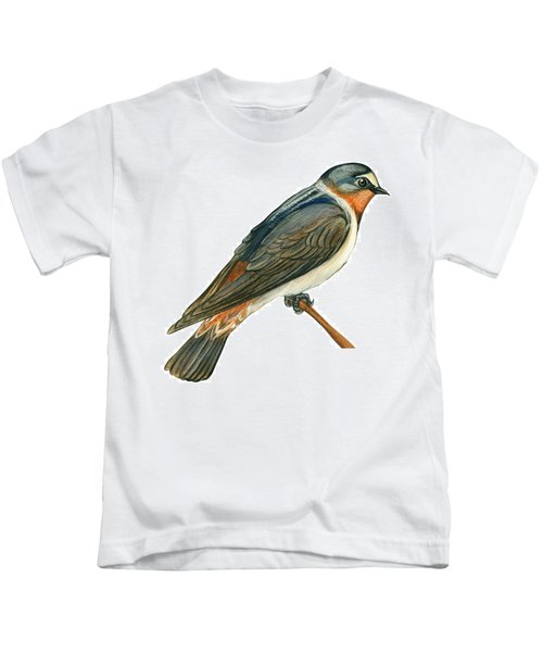 Cliff Swallow  Kids T-Shirt by Anonymous