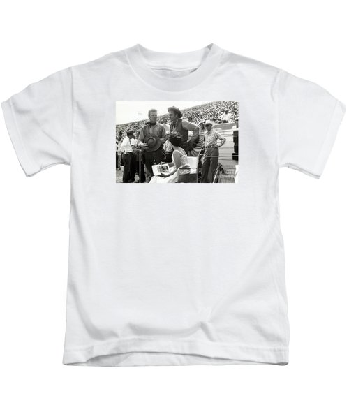 Clint Eastwood  Eric Fleming Characters Rowdy Yates Salinas California 1962 Kids T-Shirt