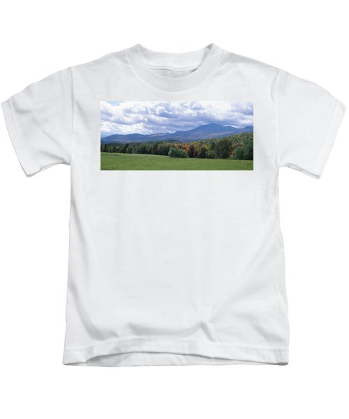 Clouds Over A Grassland, Mt Mansfield Kids T-Shirt