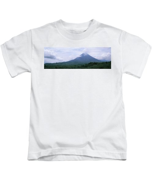Clouds Over A Mountain Peak, Arenal Kids T-Shirt
