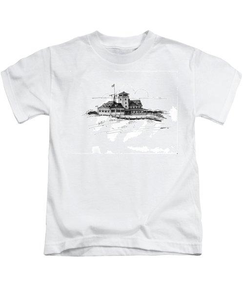 Coast Guard Station 2 Ocracoke 1970s Kids T-Shirt