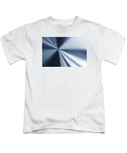 Cold Blue Metallic Texture Kids T-Shirt