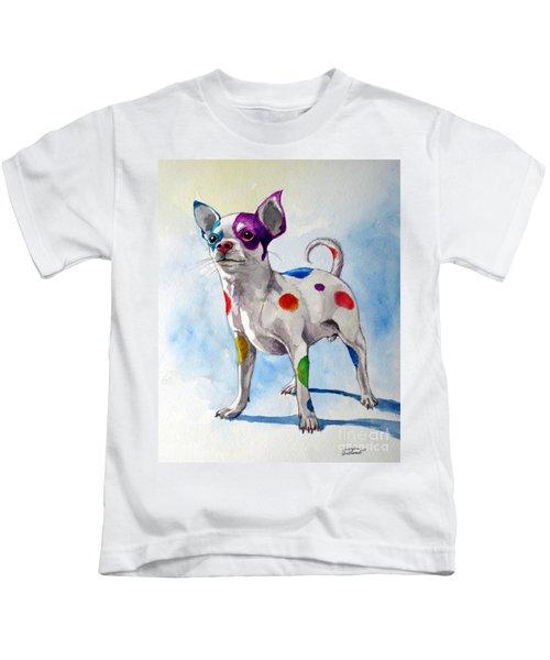 Colorful Dalmatian Chihuahua Kids T-Shirt
