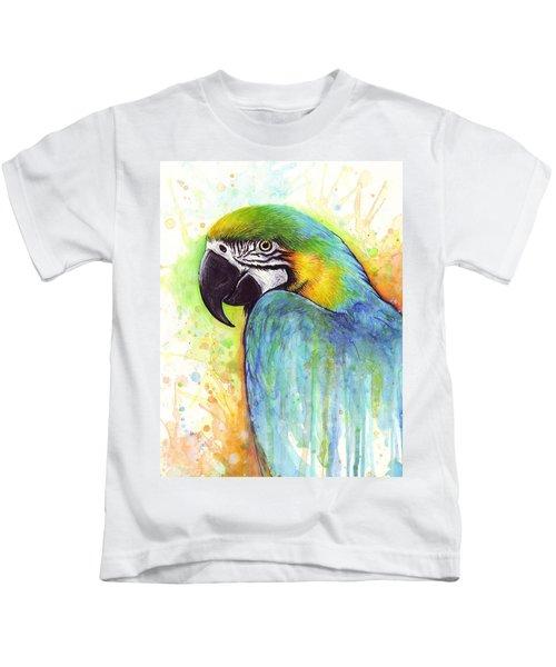 Macaw Painting Kids T-Shirt