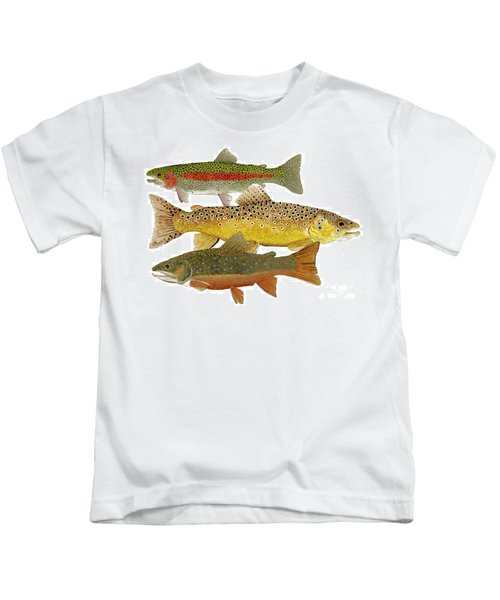 Common Trout  Rainbow Brown And Brook Kids T-Shirt