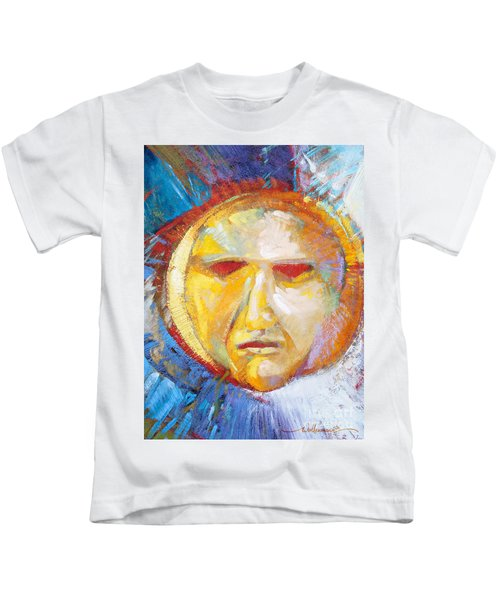 Contemplating The Sun Kids T-Shirt