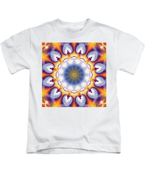 Cosmic Spiral Kaleidoscope 34 Kids T-Shirt