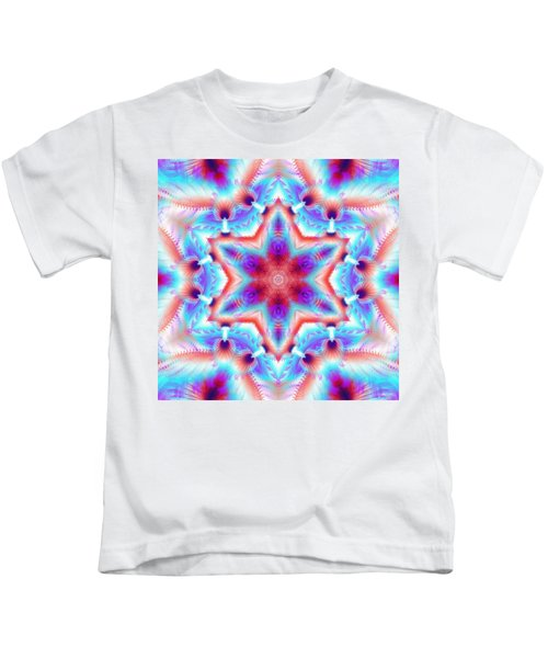 Cosmic Spiral Kaleidoscope 45 Kids T-Shirt