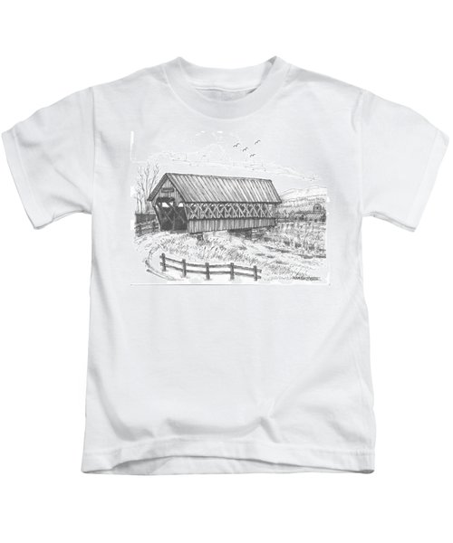 Covered Bridge Coventry Vermont Kids T-Shirt