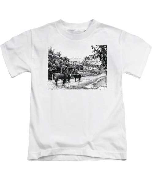Cows In The Canyon Kids T-Shirt