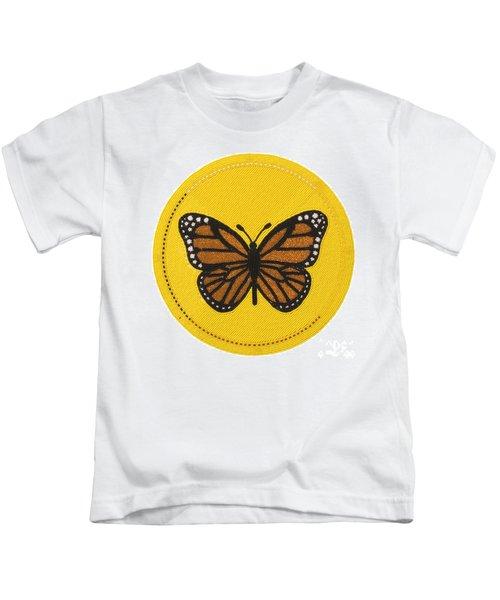 Cradleboard Beadwork Spring Butterfly Kids T-Shirt
