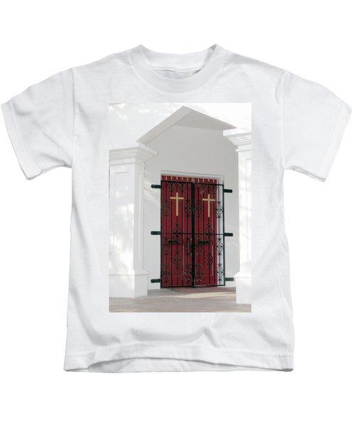 Key West Church Doors Kids T-Shirt