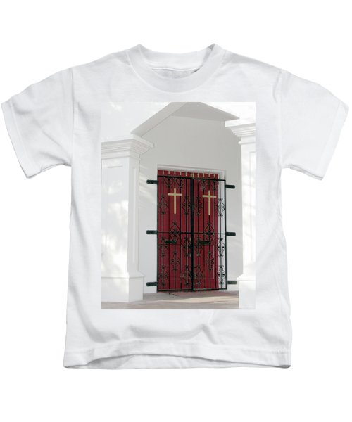 Key West Church Doors Kids T-Shirt