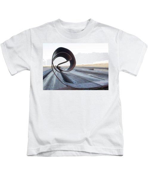 Curled Steel Kids T-Shirt