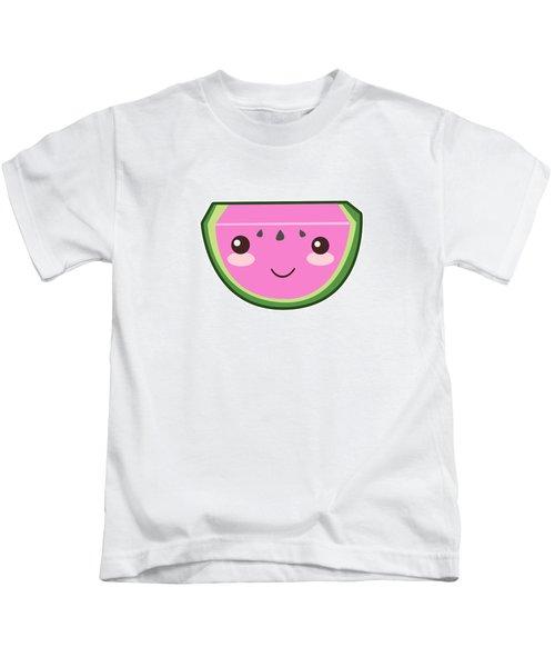 Cute Watermelon Illustration Kids T-Shirt
