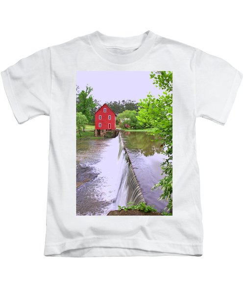 Dam At Starrs Mill Kids T-Shirt