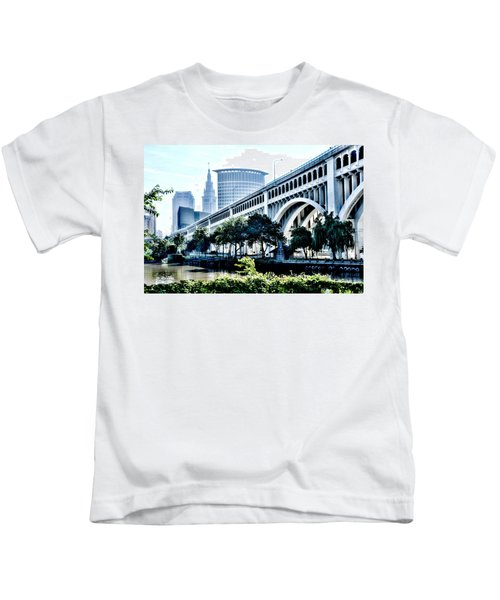 Detroit-superior Bridge - Cleveland Ohio - 1 Kids T-Shirt