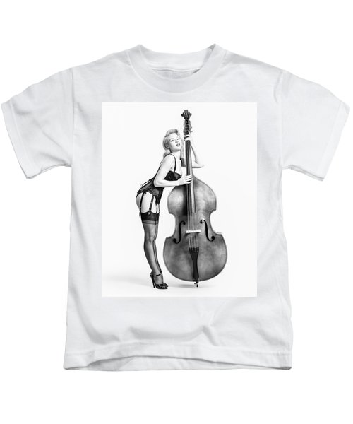 Doghouse With Mosh - String Bass Baby   Kids T-Shirt
