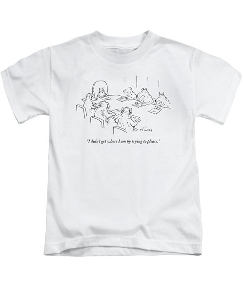 Dogs At A Meeting Kids T-Shirt