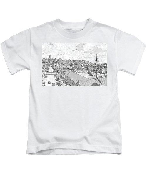 Downtown Port Washington Kids T-Shirt
