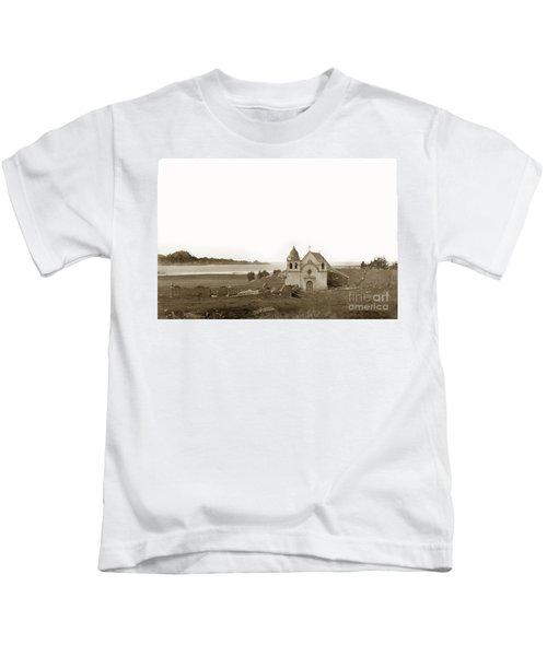 Early Carmel Mission And Point Lobos California Circa 1884 Kids T-Shirt
