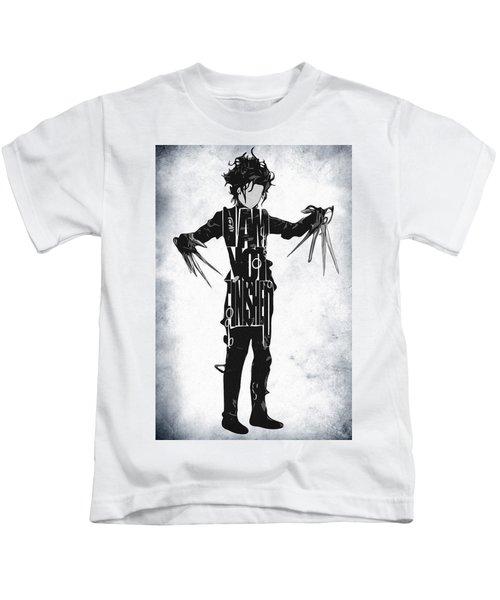 Edward Scissorhands - Johnny Depp Kids T-Shirt by Ayse Deniz
