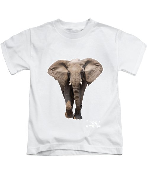 Elephant Isolated Kids T-Shirt