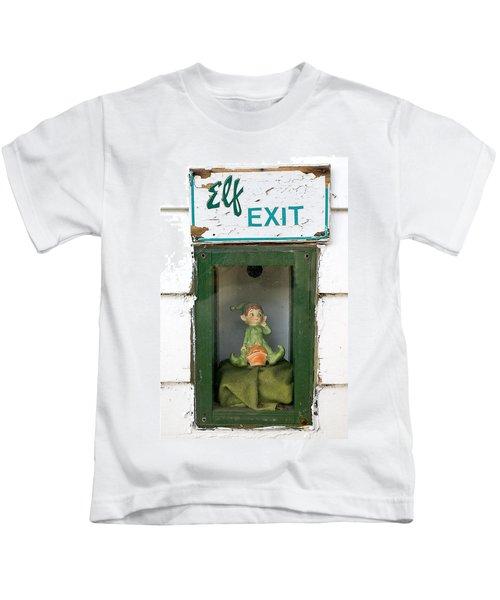 elf exit, Dubuque, Iowa Kids T-Shirt